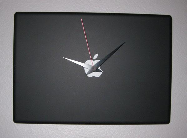 Recycled Apple MacBook Clock