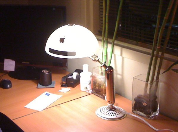 Recycled iMac G4 Lamp