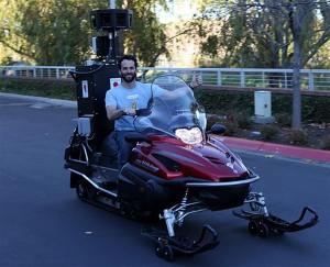 The Google Street View Snowmobile
