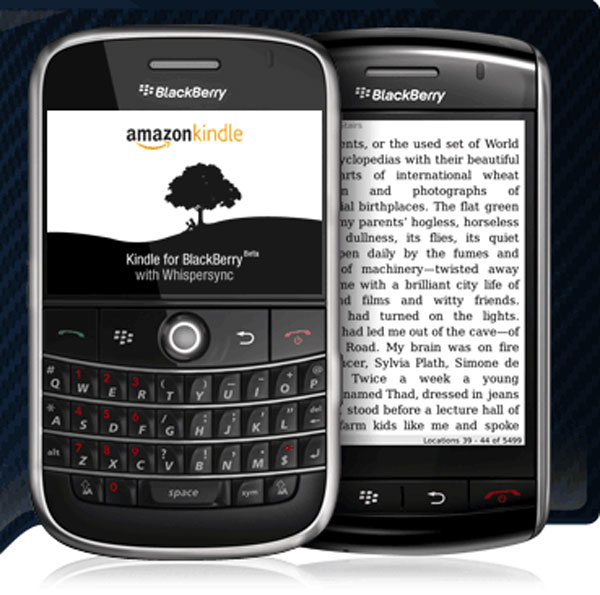 Amazon Launches Kindle BlackBerry Application