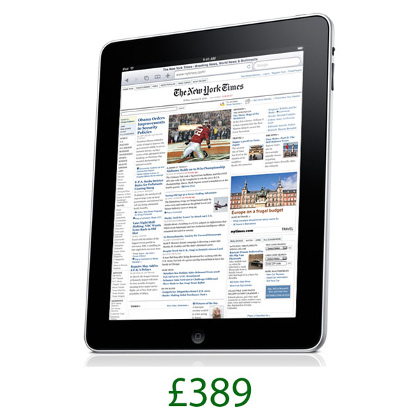 Apple iPad To Cost £389 In The UK