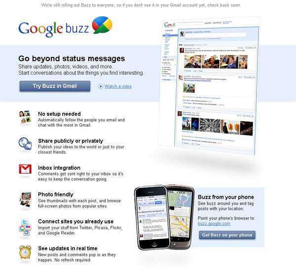Google Buzz - Google's New Social Network