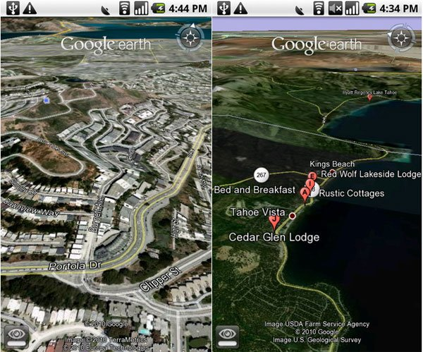 Google Earth For Android 2.1 Now Available