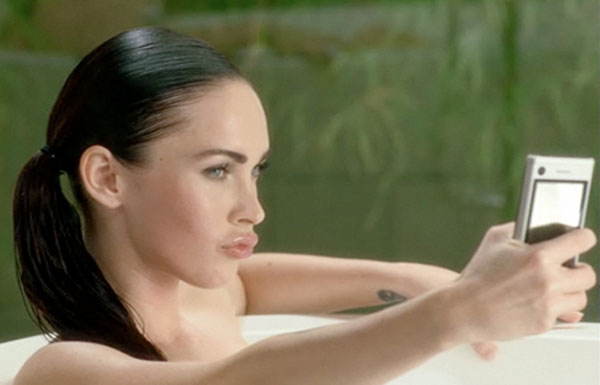 Megan Fox Shows Off The New Motorola Devour