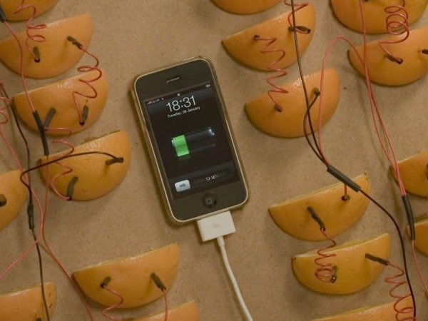 How Many Oranges Does It Take To Charge An iPhone?