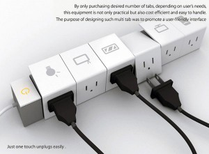 Power Strip With Ejector Buttons