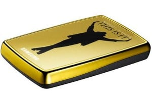 Samsung Michael Jackson 'This Is It' Gold Hard Drive