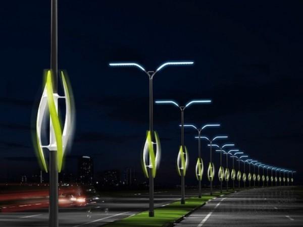 Turbine Light Concept To Light Up Highways