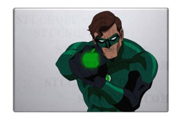 The Green Lantern MacBook Decal