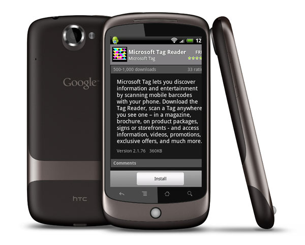 Microsoft Launches First Google Android App - Microsoft Tag Reader