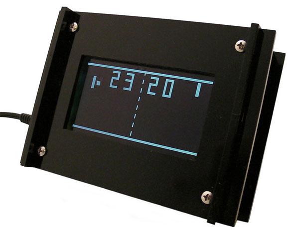 Monochron Pong Clock
