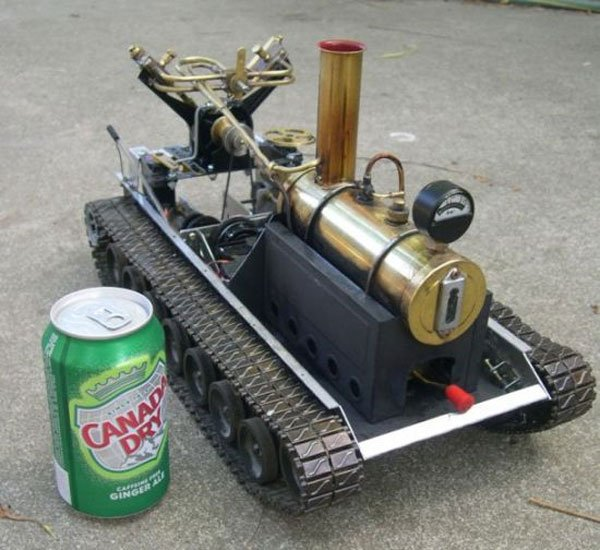 Remote Controlled Steam Powered Tank