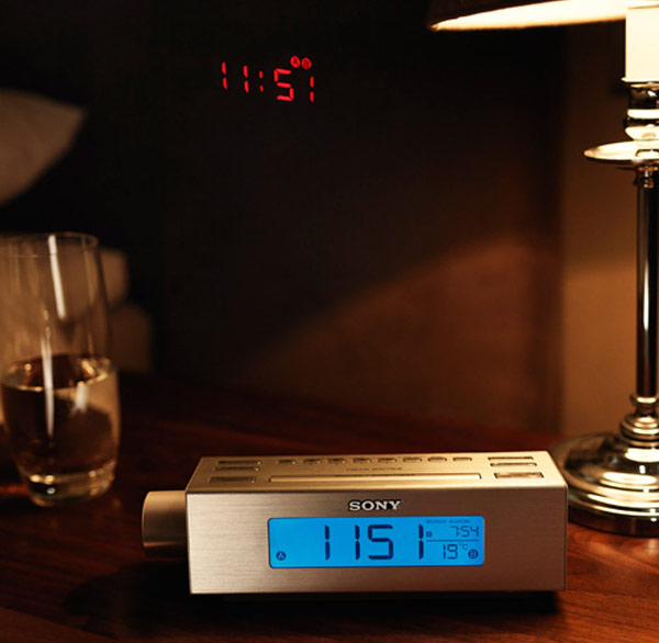 Sony ICF-C717PJ Alarm Clock Features A Built In Projector