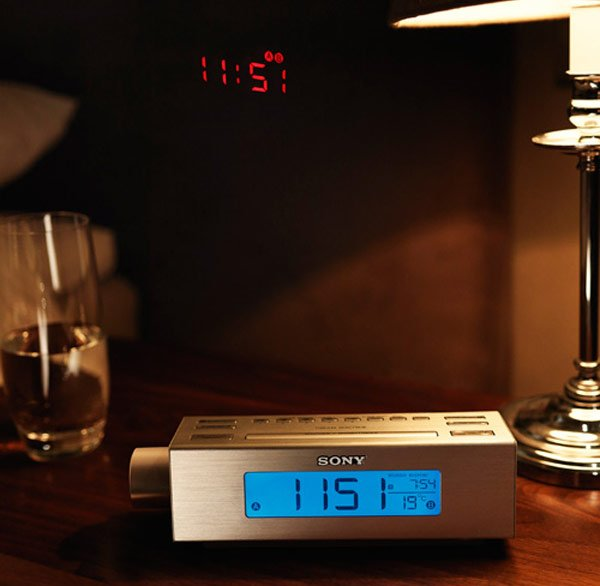Sony ICF C717PJ Alarm Clock Features A Built In Projector