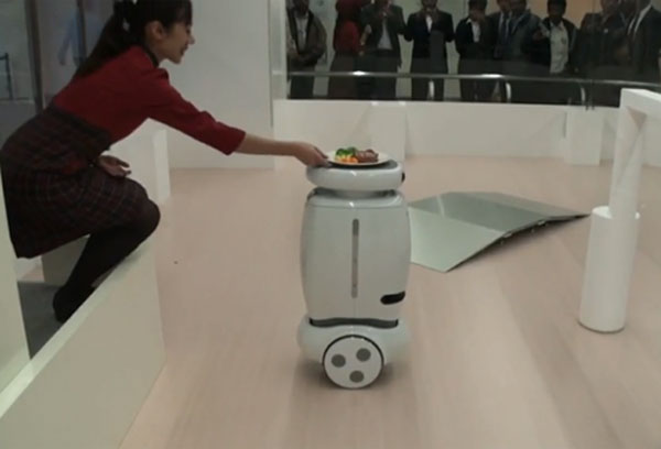 Toshiba Wheelie Robot