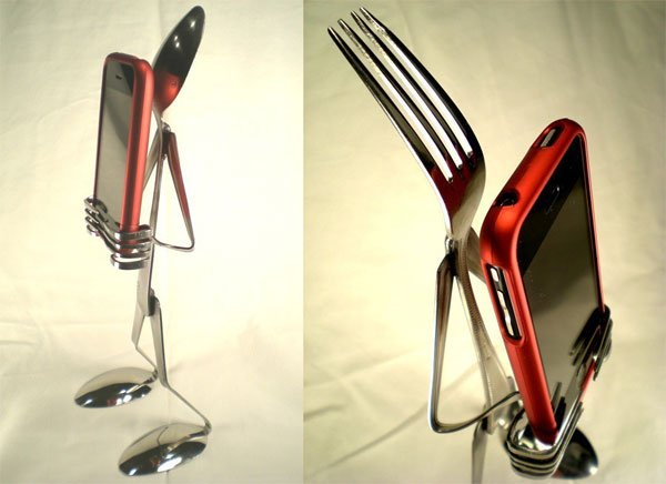 The Spoon And Fork iPhone Stand