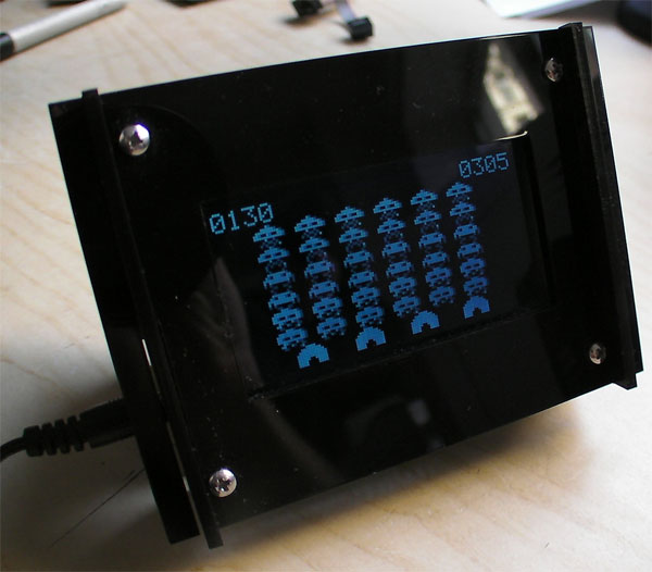 Cool Space Invaders Clock