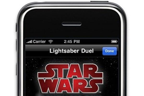 Star Wars Bluetooth Lightsaber Duel iPhone App