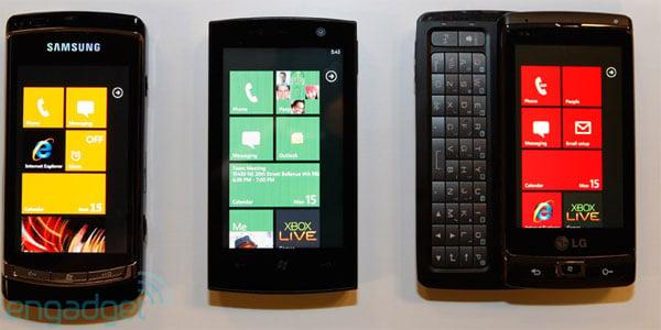 Asus, LG And Samsung Windows Phone 7 Smartphones