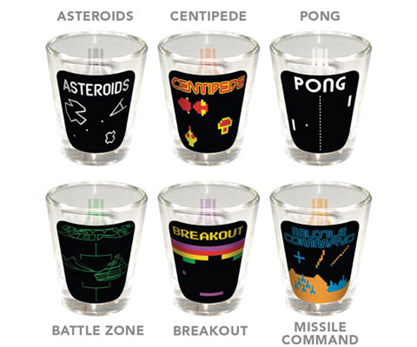 Atari Games Shot Glasses