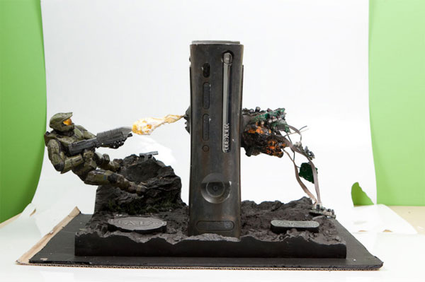 Awesome Halo Xbox 360 Console Mod