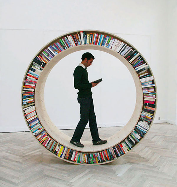 The Circular Walking Bookshelf