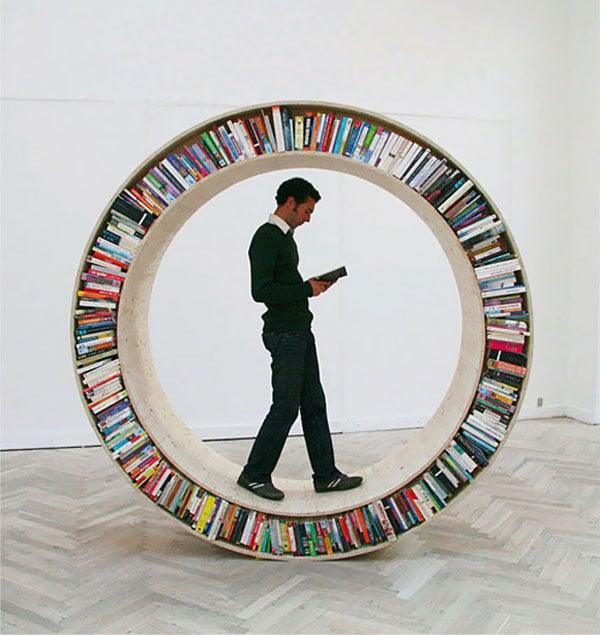 The Circular Walking Bookshelf