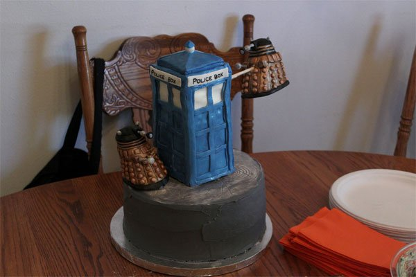 Chocolate Tardis Cake