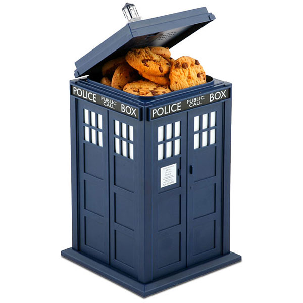 Doctor Who Tardis Taking Cookie Jar