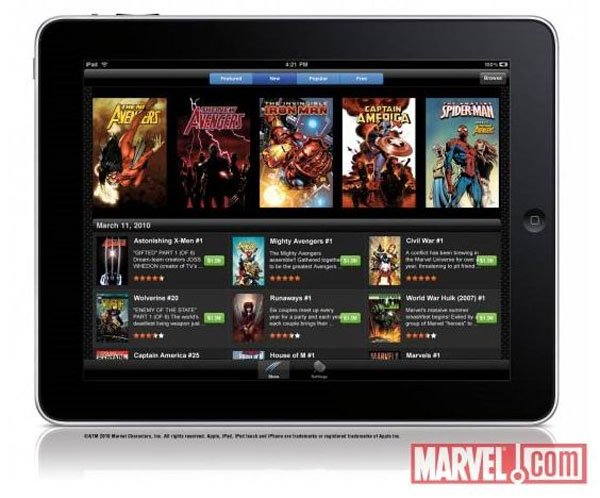 Marvel Comics iPad App