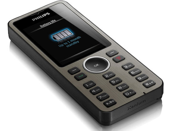 Philips Xenium X312 Mobile Phone Features One Month Battery Life