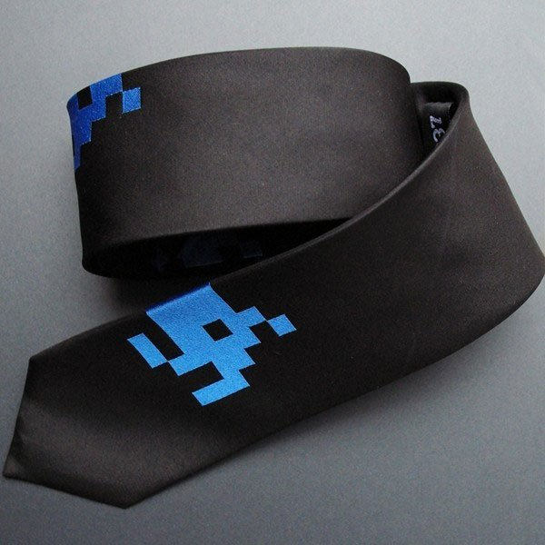 Space Invaders Necktie