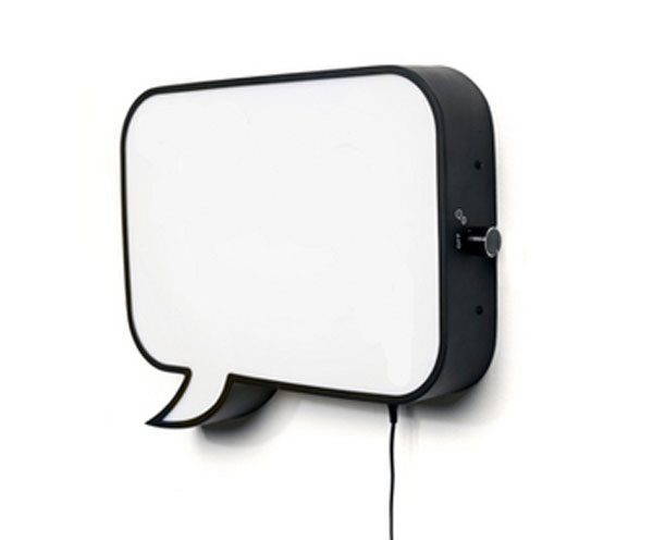 Speech Bubble Wall Lamp