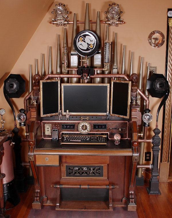 Steampunk Victorian Organ Command Desk