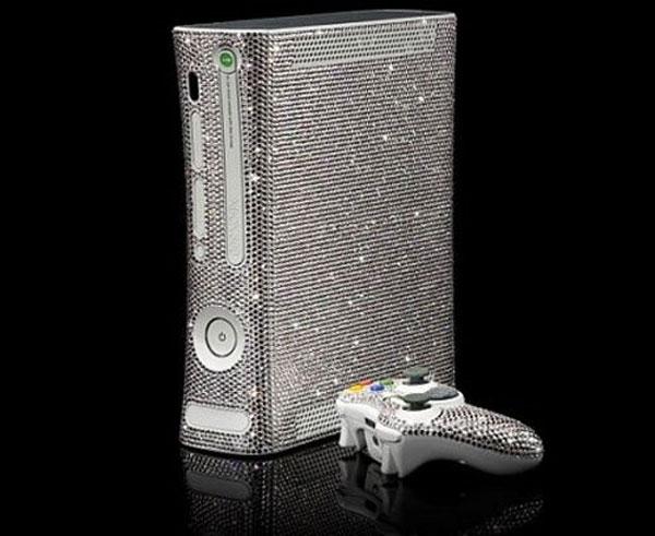 Xbox 360 Covered In Swarovski Crystals