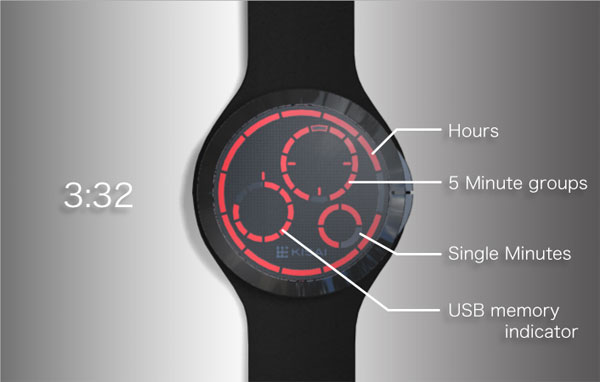 Tokyoflash USB Memory Watch