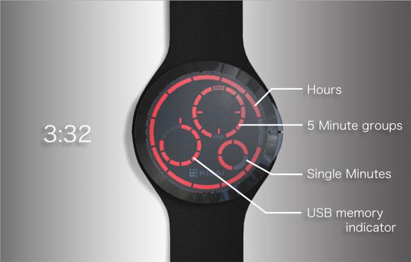 Tokyoflash USB Memory Watch