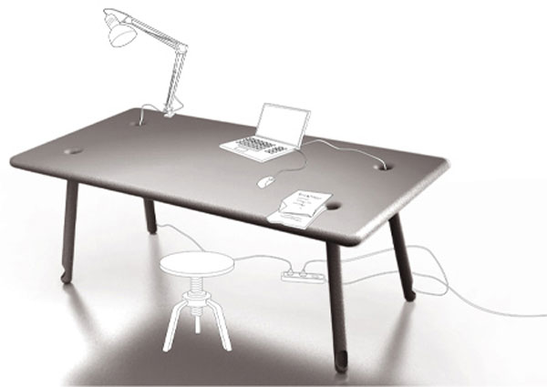 The Cable Tidy Desk