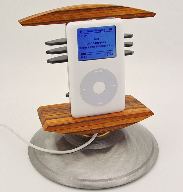 Custom Wood And Metal iPhone And iPod Dock