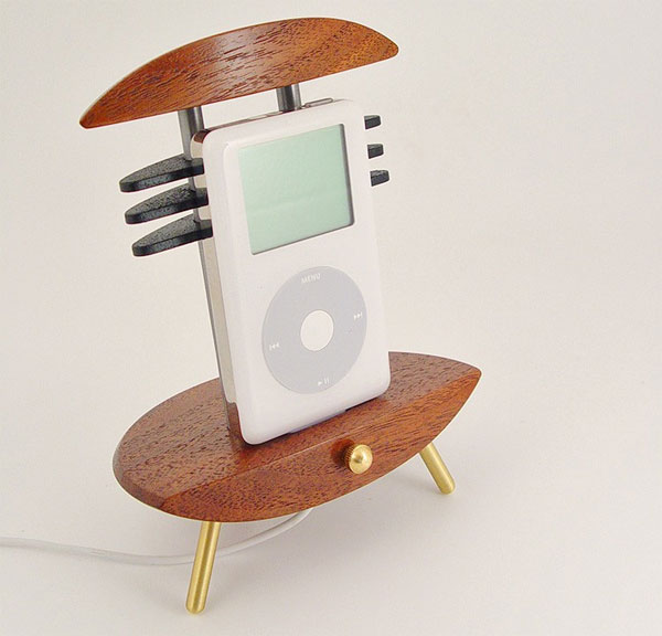 Custom Wood And Metal iPhone And iPod Docks