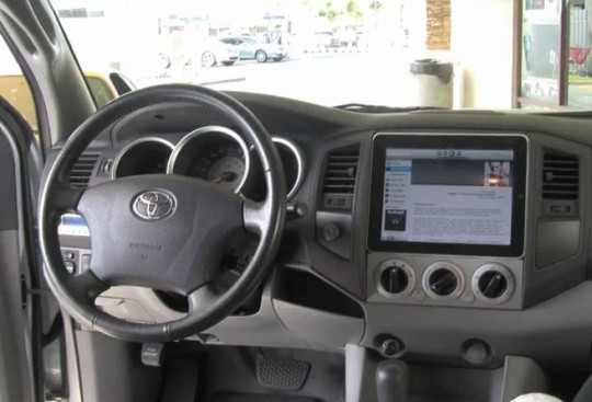 The Dash Mounted Apple iPad