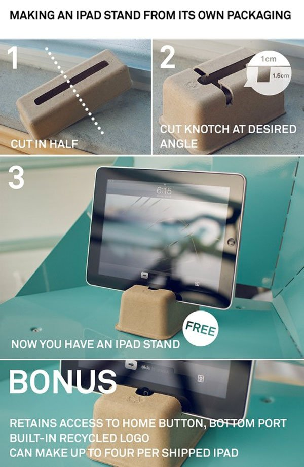DIY iPad Stand Made From Packaging Materials