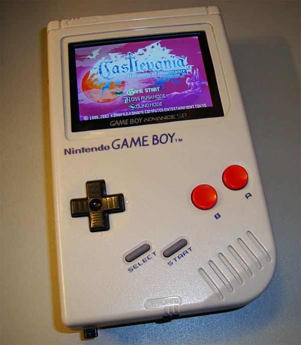 Game Boy Mod Features A Game Boy Advance Inside