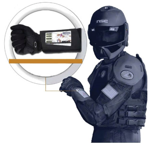HP's Flexible, Solar Powered Wrist Display For Soldiers