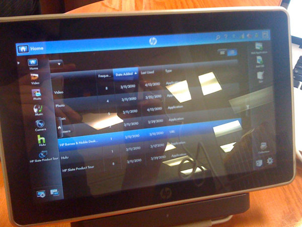 Photos Of The HP Slate Tablet