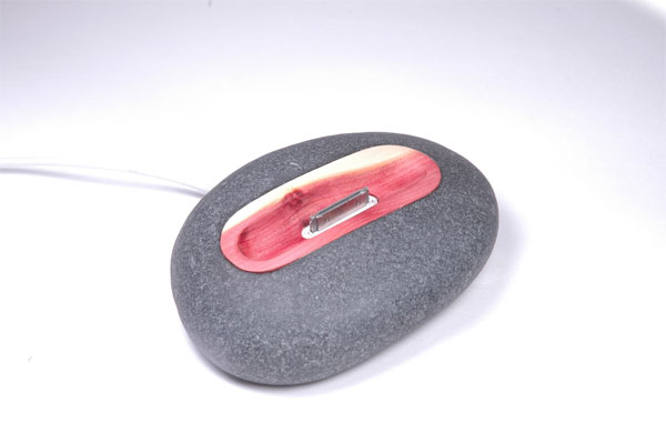 iRock iPhone Dock Made From A Real Rock