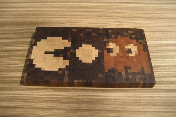 The Pac-Man Cutting Board