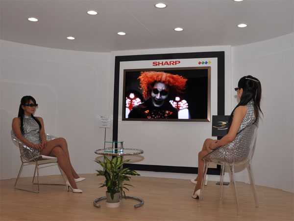 Sharp Announces World's First Four Primary Color 3D LCD TV