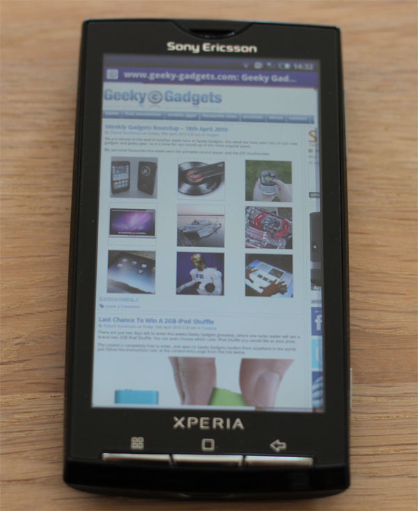 Sony Ericsson Xperia X10 Android 2.1
