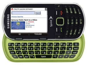 Samsung And Sprint Announce The Samung Restore Green Mobile Phone